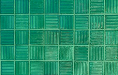 green tiles texture background Stock Photo