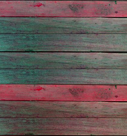 grunge colorful wood board Stock Photo