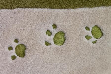 dog paw prints Stock Photo - 13829778