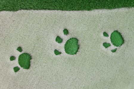 dog paw prints  Stock Photo - 13829772