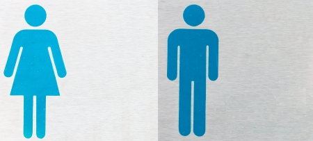 Restroom signs for men and women  photo