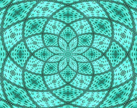 abstract stained glass background, flower pattern photo