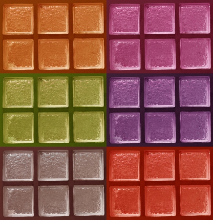 Decorative Glass Blocks color Stock Photo - 13882461