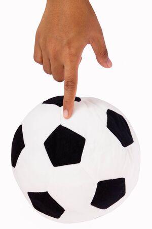 Soccer Ball on Finger  photo