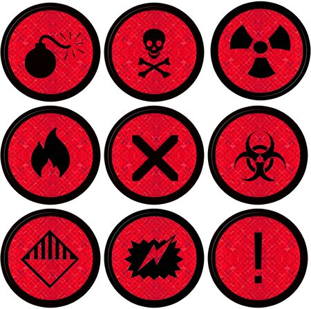 Set warning signs Hazard symbols Stock Photo - 14311230