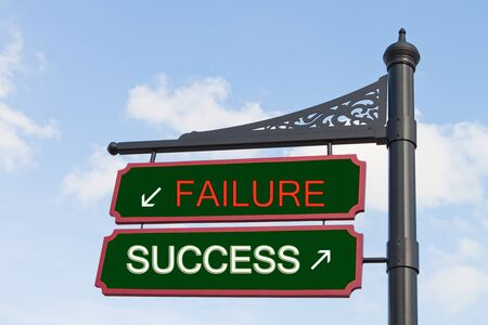 Success failure, road to success photo