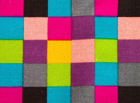 colorful checkered fabric pattern background photo