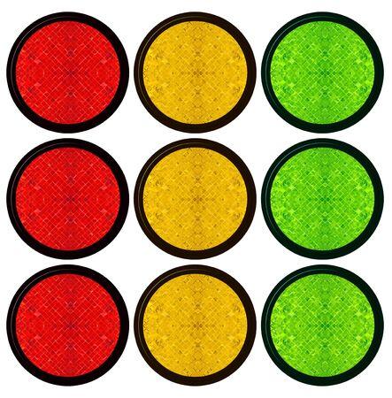blank web button   traffic light photo