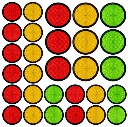 blank web button  traffic light shapes photo