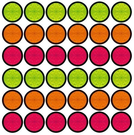 Abstract grunge tiles button set, circle web button  photo