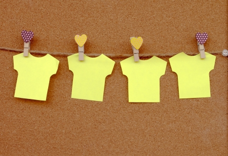 Cork board with yellow notes   Stock Photo - 14678974