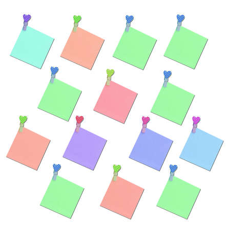 colorful blank note paper Stock Photo