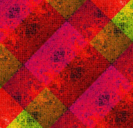 color background from tile mosaic photo