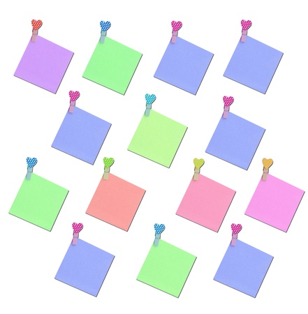colorful blank note paper photo