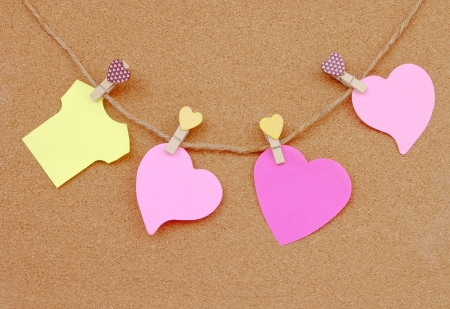 heart and shirt shape adhesive notes  photo