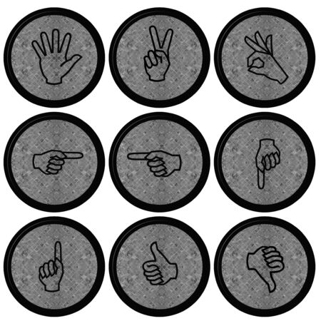 Set of Hand Icons graphics for web design collections Stock Photo - 14934068