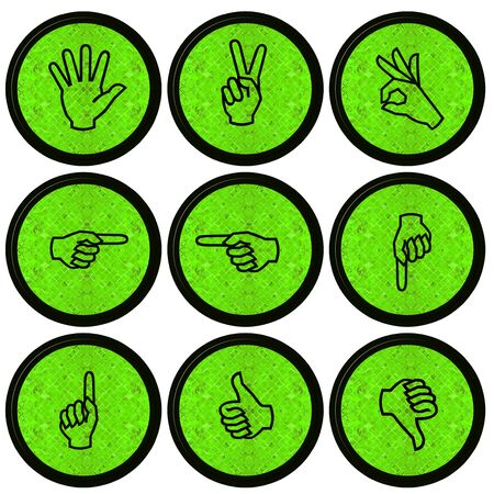 Set of Hand Icons graphics for web design collections  photo