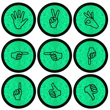 Set of Hand Icons graphics for web design collections  Stock Photo - 14934077