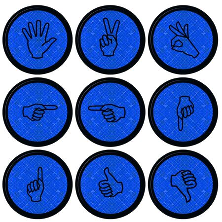 Set of Hand Icons graphics for web design collections  Stock Photo - 14934075