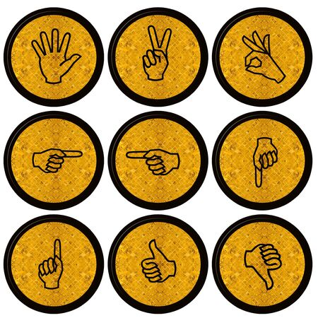 Set of Hand Icons graphics for web design collections  Stock Photo - 14934088
