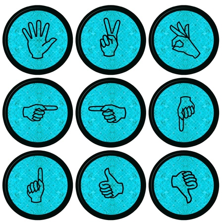 Set of Hand Icons graphics for web design collections  Stock Photo - 14934081