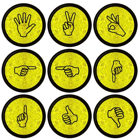 Set of Hand Icons graphics for web design collections  Stock Photo - 14934089
