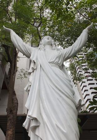 Virgin mary statue at bangkok, Thailand   photo