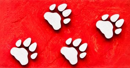 Dog s Footprints Seamless Pattern Stock Photo - 15234954