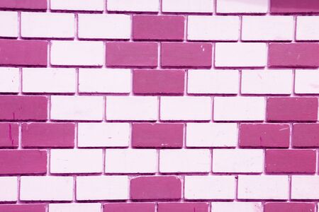 pink brick wall photo