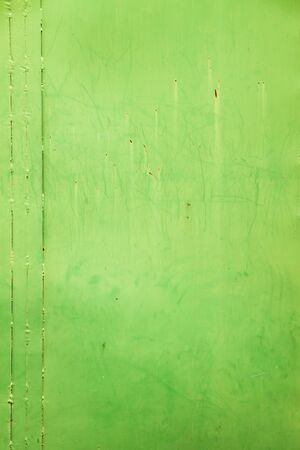 green steel door photo