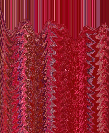 Abstract red pattern with stripes and wave photo