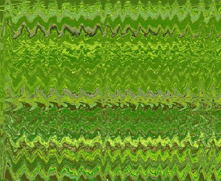 Abstract green pattern with stripes and wave Stock Photo