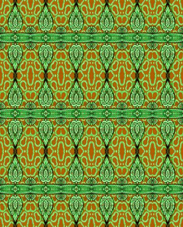 flower pattern in traditional Thai style photo