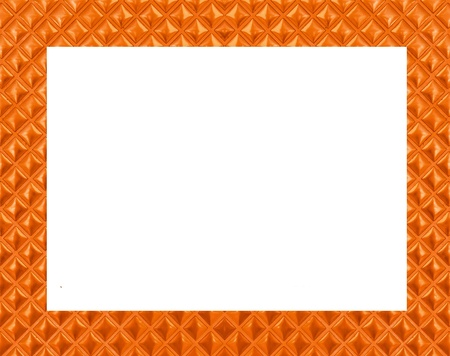 copper frame on white background Stock Photo - 15794599