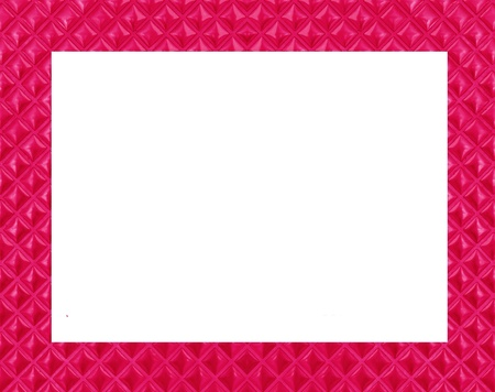 pink frame on white background photo
