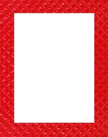 red frame on white background photo