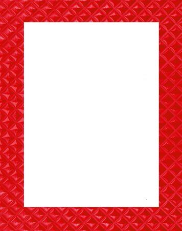 border tile: red frame on white background
