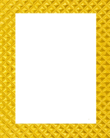 Gold frame on white background photo