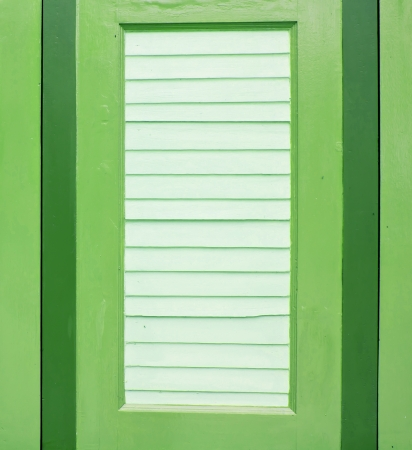 green wooden window photo