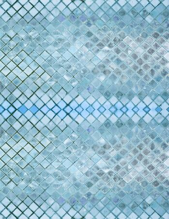 abstrct blue mosaic for background photo