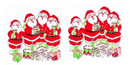 white bacjground: Santa Claus on a white background