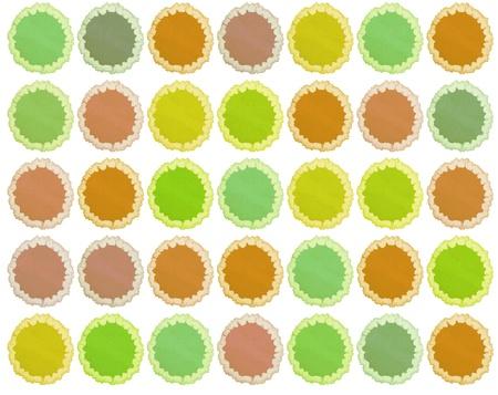 slur: retro blots of watercolor paint for your design