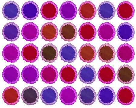 hand made pictured: retro blots of watercolor paint for your design