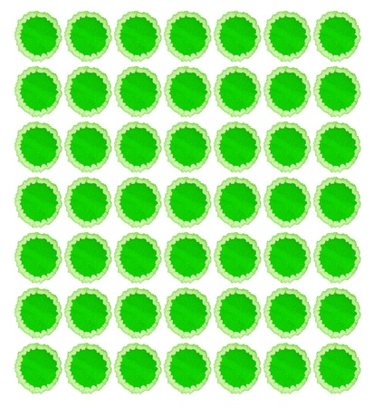 suffusion: green blot isolated on white for your design