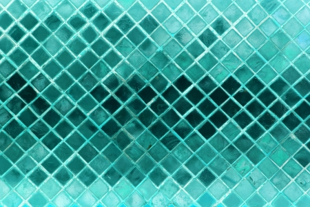 Grunge blue green mosaic, light green background