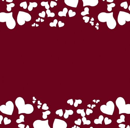 Valentine s day background with hearts Stock Photo