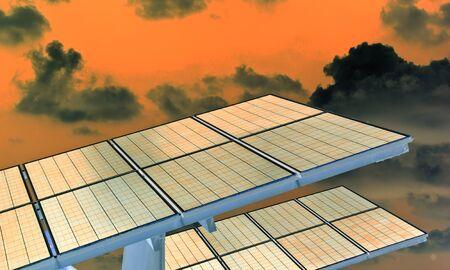environmental protection: Solar energy power plant  Stock Photo