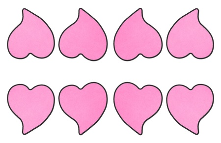 pink hearts shaped post it note photo