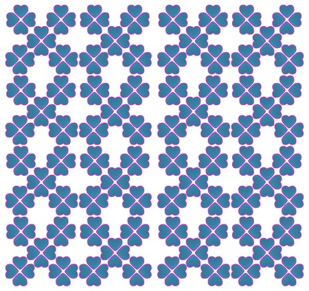 dimensionally: Seamless pattern with hearts isolated