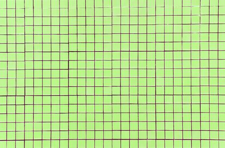 green mosaic tile texture with white filling  photo